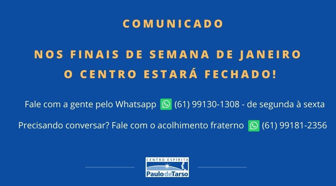 Comunicado janeiro 2021